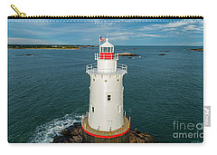 Carry-all Pouch featuring the photograph Sakonnet Light  by Michael Hughes
