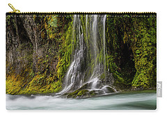 Carry-all Pouch featuring the photograph Salt Creek Falls At Salmon Creek by Matthew Irvin