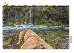 Carry-all Pouch featuring the photograph Salt Creek Falls By Photo Dog Jackson by Matthew Irvin