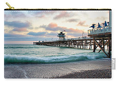 Carry-all Pouch featuring the photograph A San Clemente Pier Evening by Brian Eberly