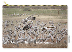 Sandhill Cranes Gather Carry-all Pouch
