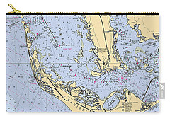 Sanibel And Captiva Islands Nautical Chart Carry-all Pouch