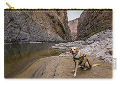 Carry-all Pouch featuring the photograph Santa Elena Canyon by Matthew Irvin
