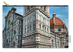 Santa Maria Del Fiore Cathedral Doorway And Bell Tower Carry-all Pouch