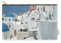 Carry-all Pouch featuring the photograph Santorini And Up by Kay Brewer