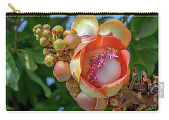 Carry-all Pouch featuring the photograph Sara Tree Or Cannonball Tree Flower And Buds Dthn0264 by Gerry Gantt