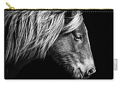 Sarah's Sweat Tea Portrait In Black And White Carry-all Pouch