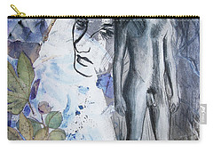 Carry-all Pouch featuring the painting Savior Of Squirrels   by Rene Capone