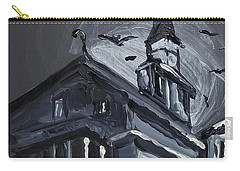Carry-all Pouch featuring the painting Scary Old House by Maria Langgle