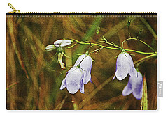 Scotland. Loch Rannoch. Harebells In The Grass. Carry-all Pouch