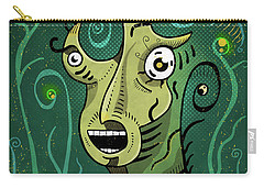 Carry-all Pouch featuring the digital art Scream by Sotuland Art