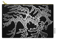 Sea Dragon Black And White Carry-all Pouch