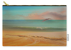 Seagulls Gather At Dusk Carry-all Pouch