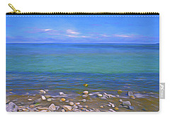 Carry-all Pouch featuring the mixed media Season Of Blue Water 4  by Lynda Lehmann
