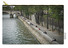 Carry-all Pouch featuring the photograph Seine by Jim Mathis