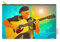 Carry-all Pouch featuring the digital art Self Portrait by Mike Braun