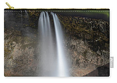 Seljalandsfoss Northern Lights Silhouette Carry-all Pouch