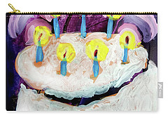 Seven Candle Birthday Cake Carry-all Pouch