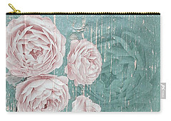 Shabby Chic Roses Distressed Carry-all Pouch