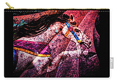 Carry-all Pouch featuring the photograph Shades Of Antique Carousel by Michael Arend
