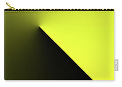 Carry-all Pouch featuring the digital art Shades Of Yellow In Rotational Gradient by Bill Swartwout Fine Art Photography