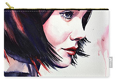 Carry-all Pouch featuring the painting She Knew by Michal Madison