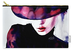 Carry-all Pouch featuring the painting She Remembered by Michal Madison