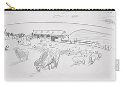 Sheep On Chatham Island, New Zealand Carry-all Pouch