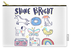 Shine Bright - Baby Room Nursery Art Poster Print Carry-all Pouch