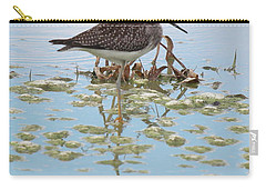 Carry-all Pouch featuring the photograph Shorebird Reflection by Rick Veldman