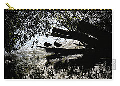 Carry-all Pouch featuring the photograph Silhouette Ducks #h9 by Leif Sohlman