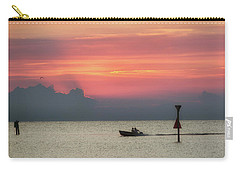 Silhouette's Sailing Into Sunset Carry-all Pouch