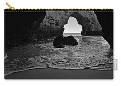 Silky Waves In Monochrome Carry-all Pouch