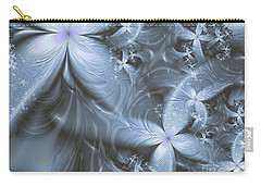 Silver Florals Carry-all Pouch