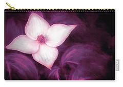 Single Dogwood Flower Purple Carry-all Pouch