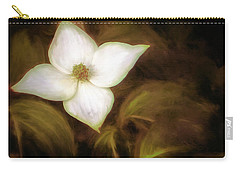 Single Dogwood Flower Sepia Carry-all Pouch