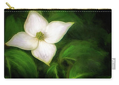 Single Dogwood Natural Carry-all Pouch