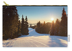 Ski Slope Without Skiers Carry-all Pouch