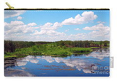 Skyscape Reflections Blue Cypress Marsh Near Vero Beach Florida C6 Carry-all Pouch