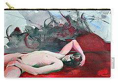 Carry-all Pouch featuring the painting Slowly Stealing What You Long For by Rene Capone