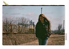 Carry-all Pouch featuring the photograph Small Town Girl by Carl Young