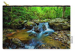 Carry-all Pouch featuring the photograph Smith Creek Cascade by Andy Crawford