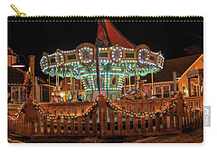 Carry-all Pouch featuring the photograph Smithville Carousel At Night by Kristia Adams