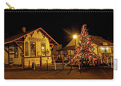Carry-all Pouch featuring the photograph Smithville Railroad Christmas Tree by Kristia Adams