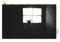 Carry-all Pouch featuring the photograph Smoking Lounge by Carl Young