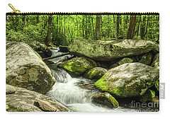 Carry-all Pouch featuring the photograph Smoky Mountains In Spring by Mel Steinhauer