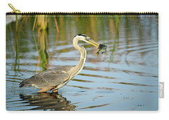 Snack Time For Blue Heron Carry-all Pouch