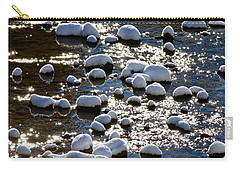 Snow Covered Rocks Carry-all Pouch