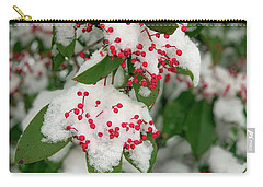 Snow Covered Winter Berries Carry-all Pouch