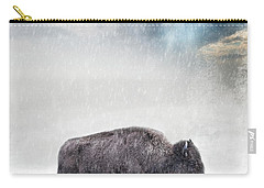Snow Day Buffalo Carry-all Pouch